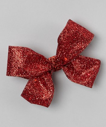 Red Sparkle Bow Clip