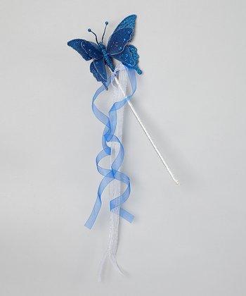 Blue Butterfly Wand