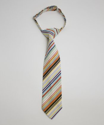 Blue & Orange Stripe Tie