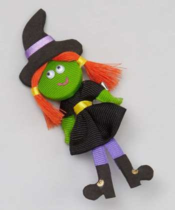 Black Mini Witch Clip