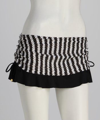 Swim Systems Black & White Flirty Swim Skirt