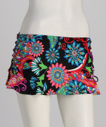 Swim Systems Pink & Blue Sienna Flirty Swim Skirt