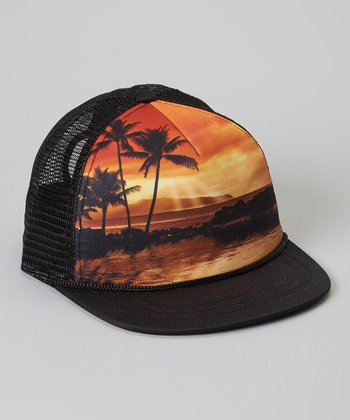 Black Sunset Trucker Hat