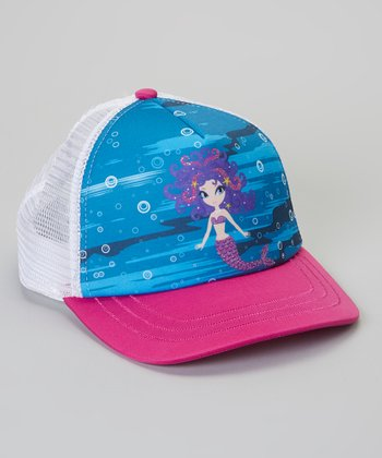 Pink & Blue Mermaid Trucker Hat