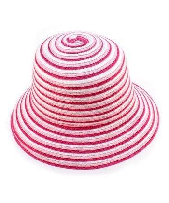 Pink Stripe Woven Hat