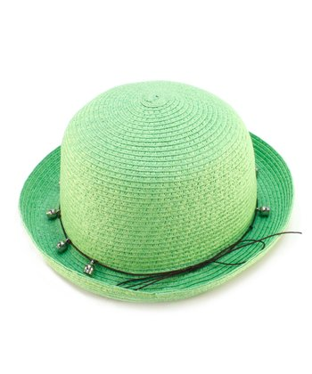 Green Bead Woven Hat
