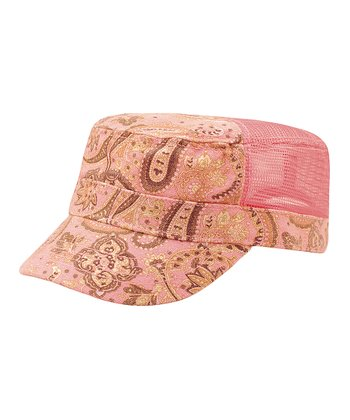 Light Pink Paisley Army Cap