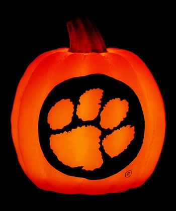 Clemson Light-Up Pumpkin