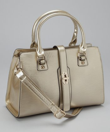 Gold Turn Lock Satchel