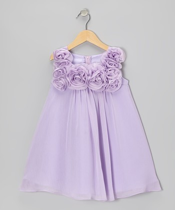 Lilac Rosette Dress - Girls