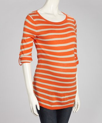 Koi & Oatmeal Stripe Maternity Sweater