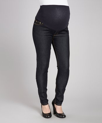 Dark Rinse Super-Soft Luxury Denim Maternity Skinny Jeans