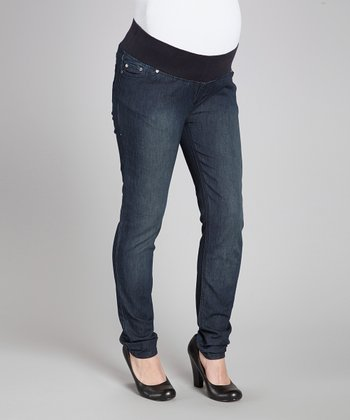 Sandblast Under-Belly Maternity Skinny Jeans - Women