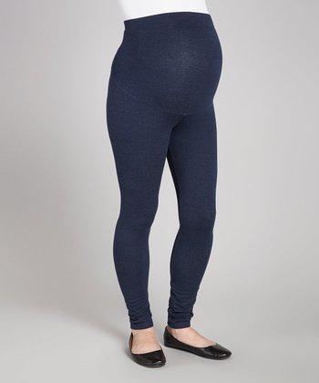 Oh! Mamma Denim Knit Over-Belly Maternity Leggings - Women