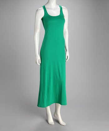 Kelly Green Scoop Neck Maxi Dress