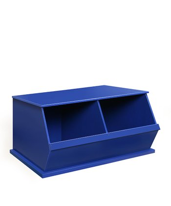 Blue Two-Bin Storage Cubby
