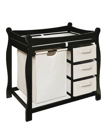 Black Sleigh Changing Table