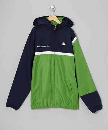 Green 'Sony Ericsson' Jacket - Boys