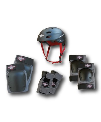 Black Kryptonics Helmet & Pad Set