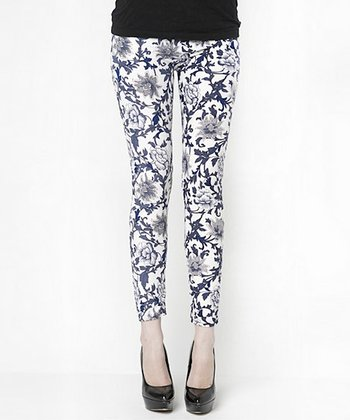 Black & White Willow Leggings - Women