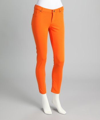 Tangerine Ponte Jeggings