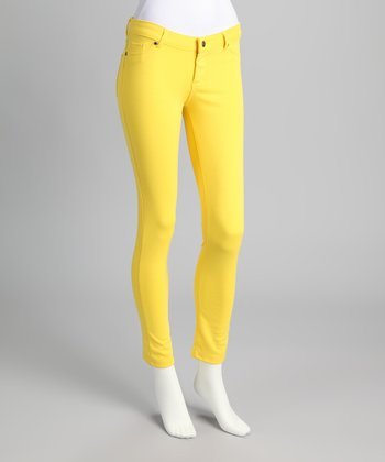 Yellow Ponte Jeggings