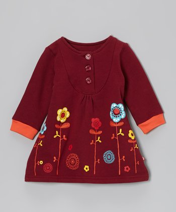 Redwood Doily Floral Dress - Infant