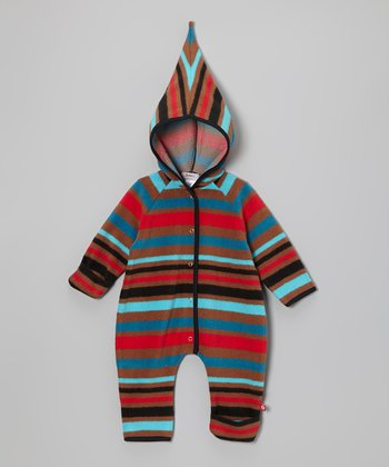 Brown & Red Stripe Hooded Bunting - Infant