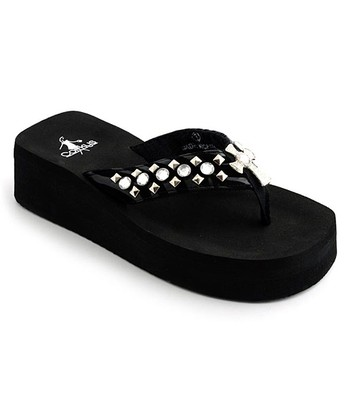 Black Zebra La Cross Sandal