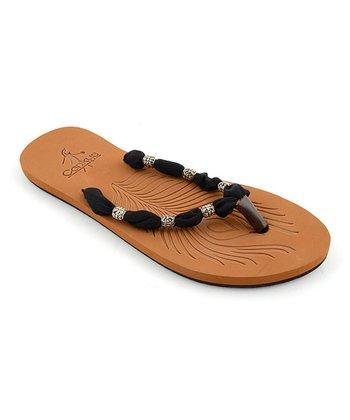Black Scarf Sandal