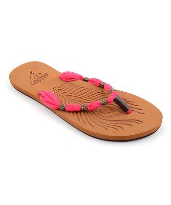Pink Scarf Sandal
