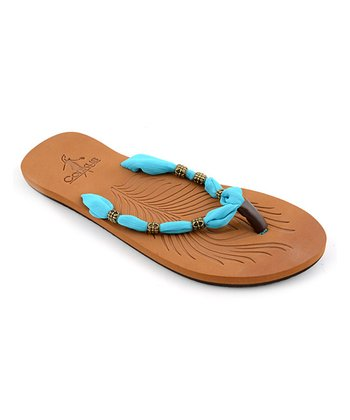 Turquoise Scarf Sandal