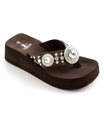 Brown Dana Thong Sandal