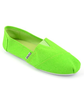 Lime Slip-On Shoe