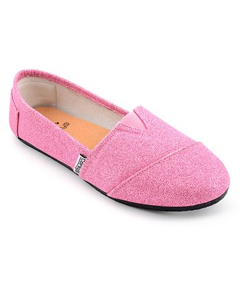 Pink Glitter Slip-On Shoe