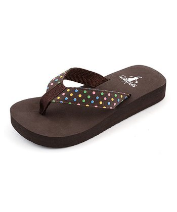 Brown Polka Dot Henderson Flip-Flop