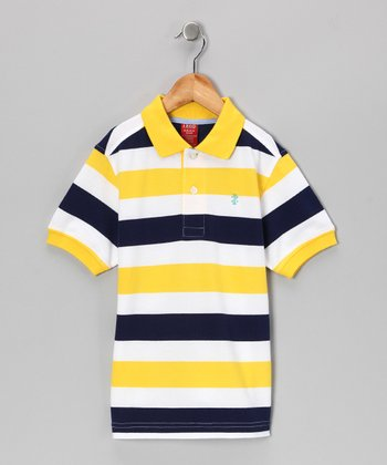 Ducky Stripe Polo - Boys