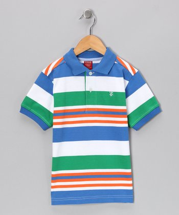Bikini & Green Stripe Polo - Boys