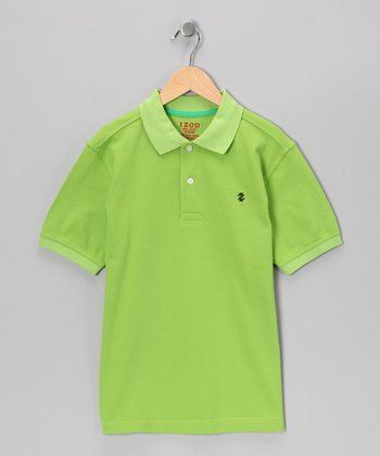 Bright Green Polo - Boys