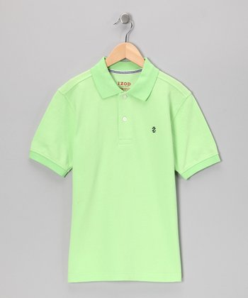 Pale Green Polo - Boys