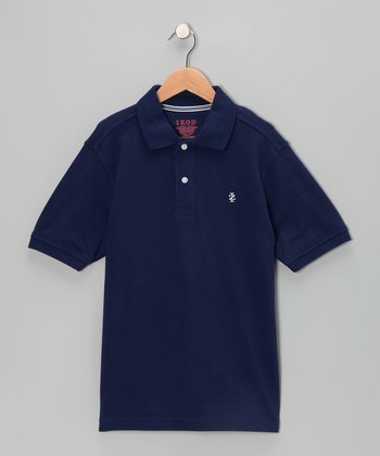 Flag Blue Piqué Polo - Boys