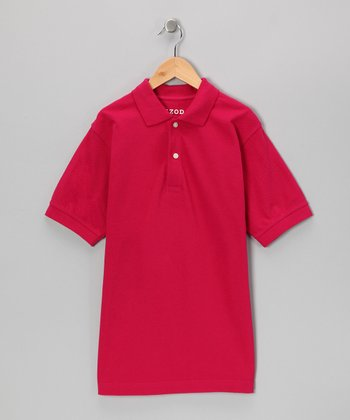 Dark Pink Polo - Boys