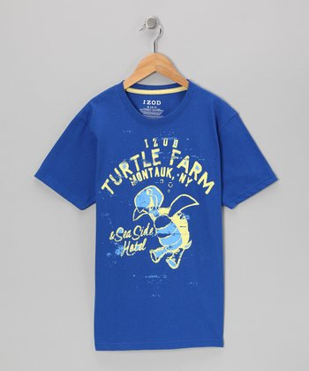 Sea Blue 'Turtle Farm' Tee