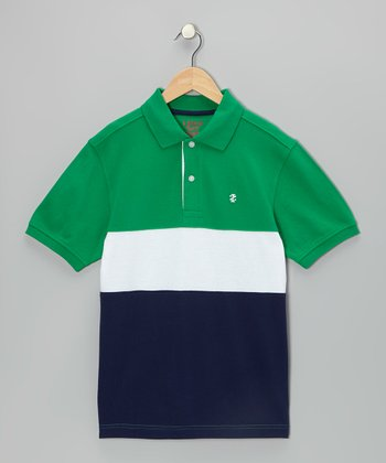 Jellybean Pieced Polo - Boys
