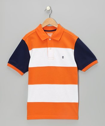 Kumquat Pieced Polo - Boys