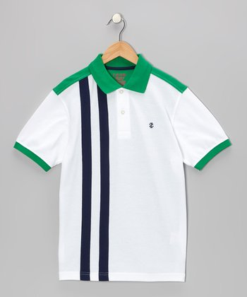 White Pieced Polo - Boys