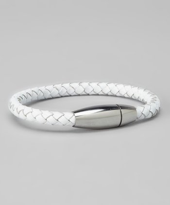 White & Silver Braided Bracelet