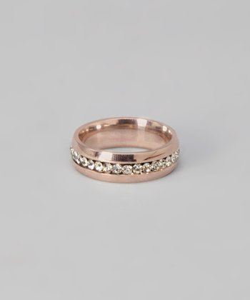 Rose Gold & Cubic Zirconia Ring
