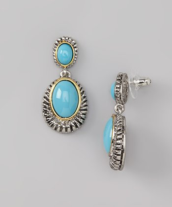 Turquoise & Silver Drop Earrings