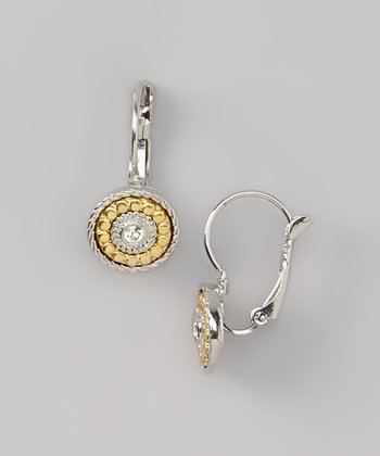 Gold & Silver Sparkle Drop Earrings
